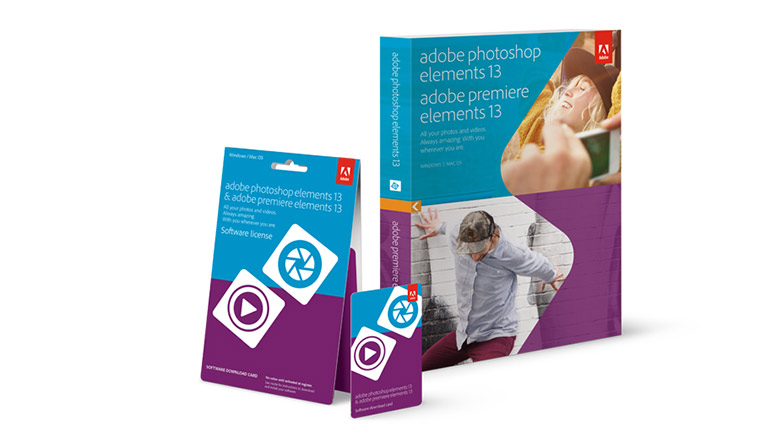 Adobe Photoshop & Premiere Elements 13 Packaging