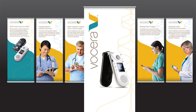 Vocera Tradeshow Banners